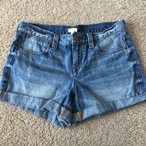 J. Crew Size 30 Distressed Jean Shorts